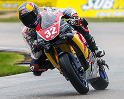 Once again on Saturday morning practice and Superpole sessions at Road America were held in wet conditions with temperatures 40 degrees lower than Friday and winds became a factor