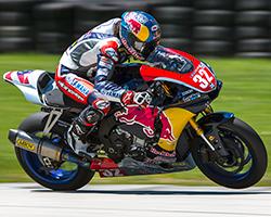 In both MotoAmerica races in Elkhart, Wisconsin Jake Gagne got phenomenal starts