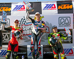 Jake Gagne repeated race one's class win and secured another double victory at Road America