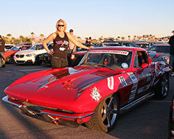 Jane Thurmond, and her 1964 Chevy Corvette named Scarlett