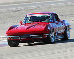 Jane Thurmond drove her 1964 Corvette Scarlett to a 66th place