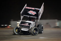Jason Johnson recently won his heat and qualified at the top of the field, at the ASCS Short Track Nationals, at Little Rock, Arkansas. (Photo by Corbet Deary)