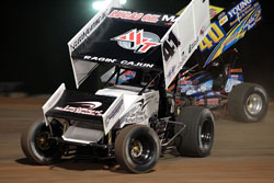 Although mot winning the ASCS Short Track Nationals Championship race, Jason Johnson Still hold the season points lead. (Photo by Corbet Deary)