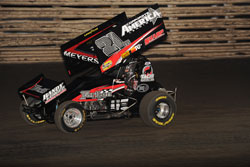 Paul Arch's photo of Jason Meyers driving the number 21 race car to a 5th place finish at Knoxville
