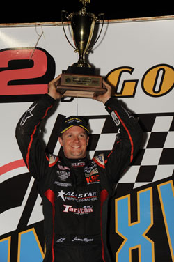 Jason Meyers qualifying win on Thursday in the World of Outlaws