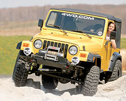 Jeep Wrangler TJ returned to the classic round headlights of the earlier Jeep CJ series