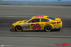 Jesse Iwuji was 14th in the race at Kern County Raceway Park in April