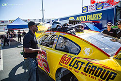 Jesse Iwuji races the No. 36 List Group Chevrolet in the NASCAR K&N Pro Series West.