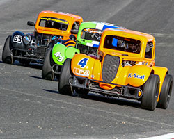 Legends Cars are 5/8 scale purpose built race cars powered by a 122 horsepower Yamaha 1200/1250 cc motorcycle engine & styled after pre-World War II Ford, Chevy or Dodge bodies