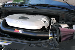 K&N intake system part number 77-1560KTK was found on the 2012 Durango at the 2012 SEMA Show