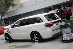 This 2012 Dodge Durango was displayed at the 2012 SEMA Show