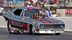 NHRA driver John Hale experienced a stellar season, and won the Drag Racing Online 2011 Nostalgia Funny Car Championship.
