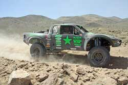 Justin Davis Racing the Team Green Army Trophy Truck
