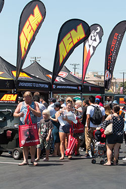 K&N booth at Auto Enthusiast Day in Anaheim, Ca