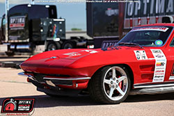 "Jane Thurmond's LS1 powered '64 Corvette ""Scarlett"" ready for OPTIMA Search for the Ultimate Street Car - Pike's Peak International Raceway"