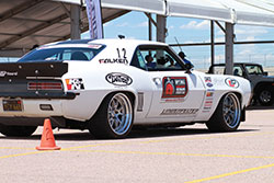 Jake Rozelle's Lingenfelter Built LS7 Powered 1969 Camaro poised for the win.