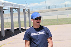Jake was nothing but smiles after learning he the GTV class leader at Pike's Peak.