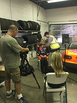 K&N Race Team Driver, Jane Thurmond, sharing her strategy for COTA with Katie Osborne from Lucas Oil and MAVTV.