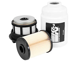 K&N diesel pickup fuel filters replace a vehicle's factory diesel fuel filter and are designed to meet or exceed OEM specifications with a high efficiency, high capacity design