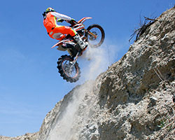 K&N is the air and oil filter sponsor of pro hill climb racer Brett Peterson of KTM Racing Malcolm Smith Motorsports
