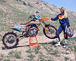Chelsea Peterson of KTM Racing Malcolm Smith Motorsports Team Peterson Racing