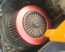 KTM 500/525 EXC/MXC/SX Air Filter KT-5201 Installed