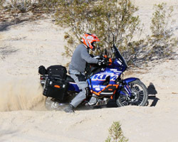 The KTM 950 Adventure was succeeded by the KTM 990 Adventure, not due to a lack of performance but because the KTM 950 was still carbureted and the 990 received fuel injection