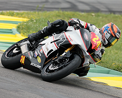Travis Wyman made it on the podium at Virginia International Raceway for both MotoAmerica Road Racing events in Superstock 600