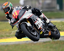 The youngest of the Wyman brothers, Cody, scored 16th and 14th at Virginia International Raceway for both MotoAmerica events