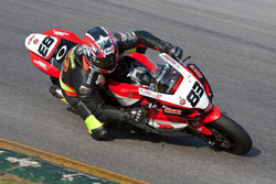 In his first full season, Luie Zendejas finished the year with one win and five podium finishes in the WERA National series in 2011.