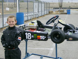 The young K&N champion under construction finished his 2012 rookie kart season with four second place and two third place podium finishes