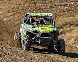 Katie Vernola moves forward through the chaos at Lucas Oil Regional Off-Road Series Production 1000 UTV class