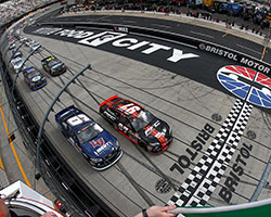 William Byron started the PittLite 125 at Bristol Motor Speedway from the fourth position but quickly sailed past Jesse Little, Brandon Jones, and Daniel Hemric