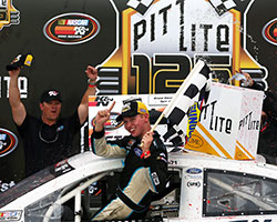 In his seventh career NASCAR K&N Pro Series East (NKNPSE) start, Kyle Benjamin was able to grab the checkered flag