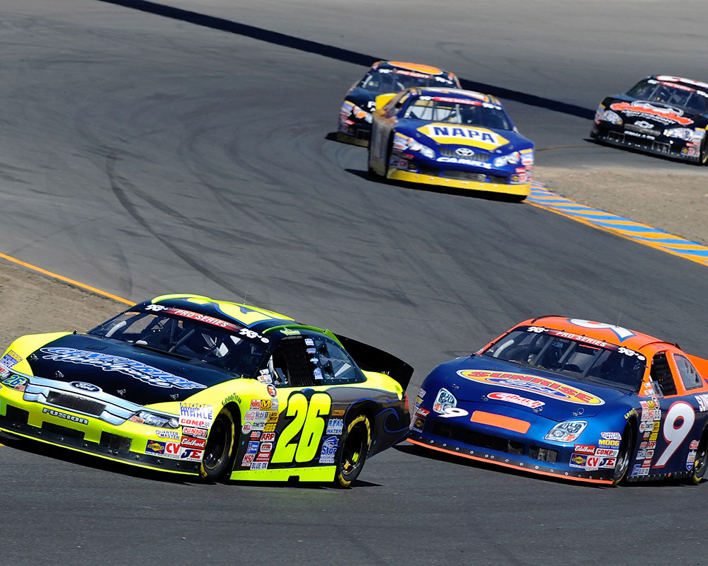 Kyle Larson Turns Right On Victory Lane In Sonoma NASCAR K&N Pro ...
