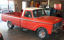 Laguna Hills HS received a donated 1966 Ford F100 pickup as a class restoration project