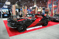 This 1968 Ford Mustang mixes new and old styling for a nicely blended SEMA show car