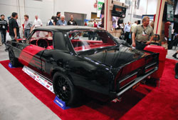 2012 SEMA attendees had nothing but great things to say about Larry Ashley's 1968 Ford Mustang