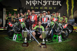 Monster Energy Leading Edge Kawasaki had the most dominant season in Canadian motocross history