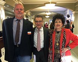 Capstone Adaptive Learning & Therapy Centers' Chairman of the Board Norman Smith, Bobby Likis, and StarFest telethon co-host Pat Windham