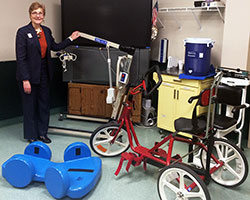 Trudy O'Brien is seen here in one of the Capstone Adaptive Learning & Therapy Centers, Inc. therapy rooms