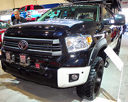 2014 SEMA show booth featured a 2014 Toyota Tundra 1794 Edition pickup