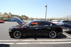 The side profile of Sean Sheppard's 2010 Nissan Maxima demands attention