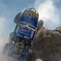Near verticle climb near Las Vegas, Nevada