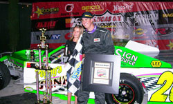 Chris Gerchman is gunning towards the Lucas Oil Modified Series championship