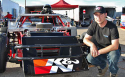 Two-time Lucas Oil Modified Series Champion Jim Mardis and his dirt modified race car