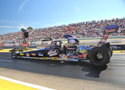 NHRA driver, Luke Bogacki, experienced a stellar season in 2012