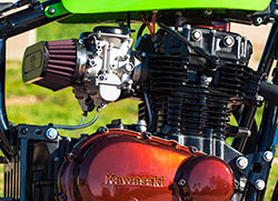 Todd built a carbon fiber topped dual flange K&N air filter of his own design