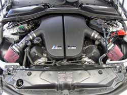 Duel Air Intake Installed in BMW M5