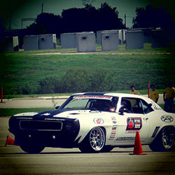 Jake Rozelle driving his 1969 Chevy Camaro in autocross